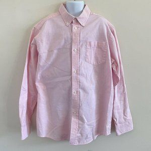 Izod Regular Fit Pink Long Sleeve Dress Shirt 14